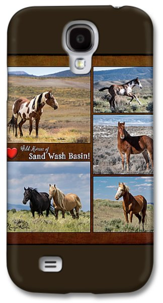 I Love Wild Horses Of Sand Wash Basin Galaxy S4 Case