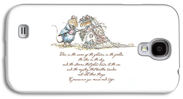 I Pronounce You Mouse And Wife Galaxy S4 Case by Brambly Hedge