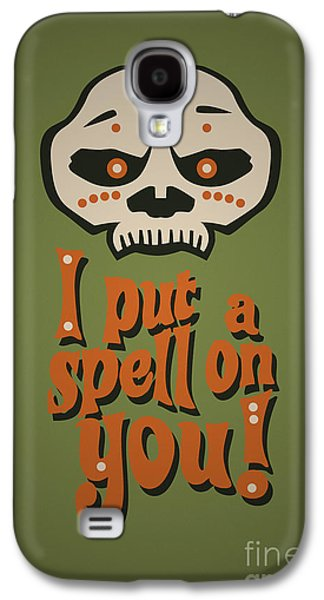 I Put A Spell On You Voodoo Retro Poster Galaxy S4 Case by Monkey Crisis On Mars