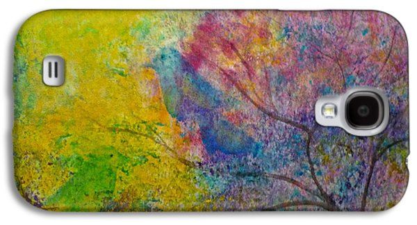 Galaxy S4 Case featuring the painting I See Birds by Claire Bull