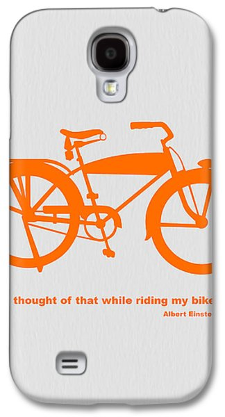 Cartoon Galaxy S4 Cases - I Thought Of That While Riding My Bike Galaxy S4 Case by Naxart Studio