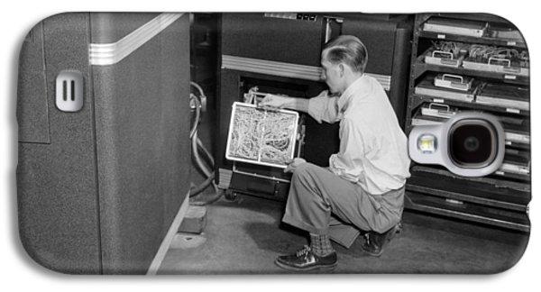 Ibm Punch Card Machine Galaxy S4 Case by Underwood Archives