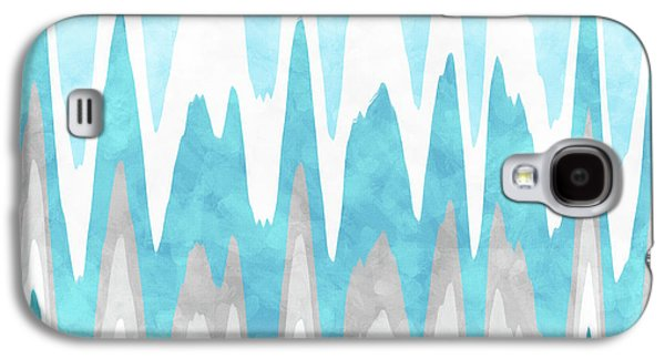 Ice Blue Abstract Galaxy S4 Case by Christina Rollo