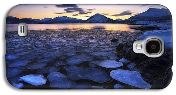 Ice Flakes Drifting Against The Sunset Galaxy S4 Case