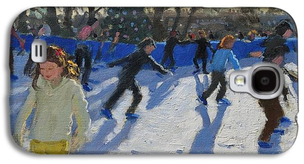 Ice Skaters At Christmas Fayre In Hyde Park  London Galaxy S4 Case