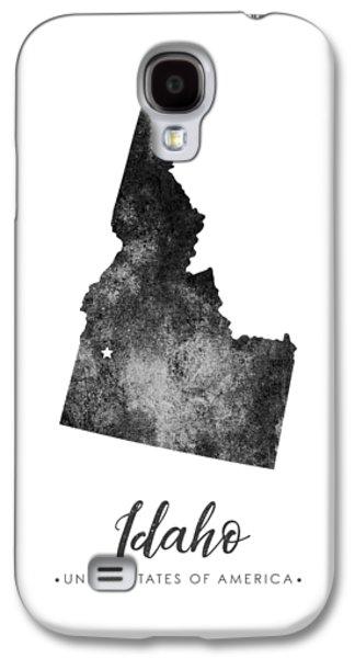 Idaho State Map Art - Grunge Silhouette Galaxy S4 Case