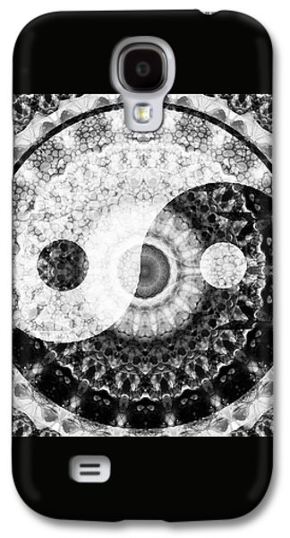 Ideal Balance Black And White Yin And Yang By Sharon Cummings Galaxy S4 Case by Sharon Cummings