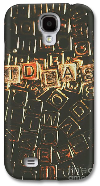 Ideas Letterpress Typography Galaxy S4 Case by Jorgo Photography - Wall Art Gallery