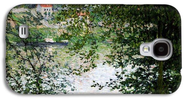 Ile De La Grande Jatte Through The Trees Galaxy S4 Case by Claude Monet