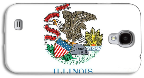 Illinois State Flag Galaxy S4 Case by American School