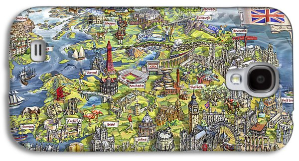 Illustrated Map Of The United Kingdom Galaxy S4 Case