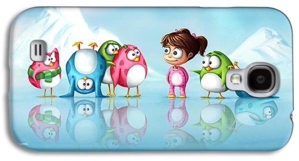 Im A Penguin Too Galaxy S4 Case by Tooshtoosh