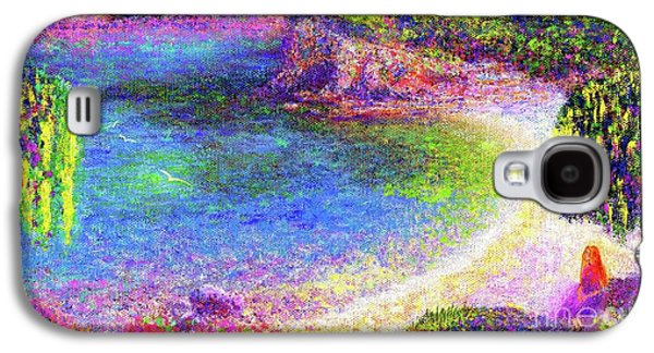 Imagine, Meditating In Beautiful Bay,seascape Galaxy S4 Case by Jane Small