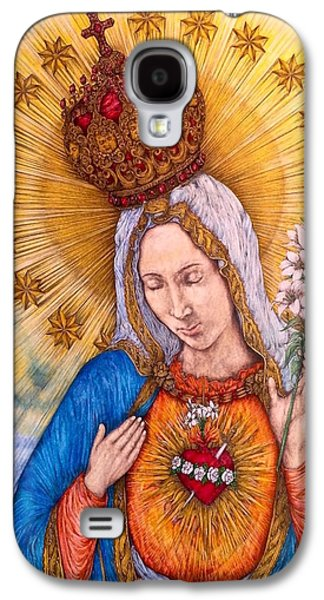 Immaculate Heart Of Virgin Mary Galaxy S4 Case by Kent Chua