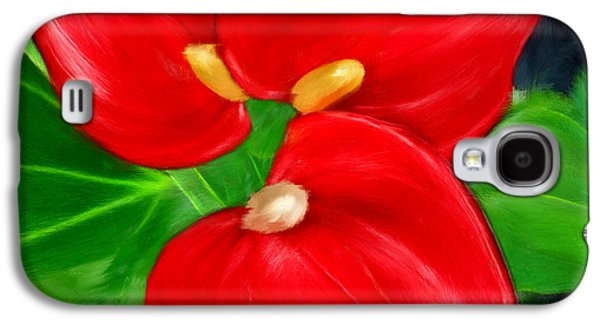 Immeasurable Beauty- Anthurium Paintings Galaxy S4 Case