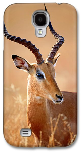 Impala Male Portrait Galaxy S4 Case by Johan Swanepoel