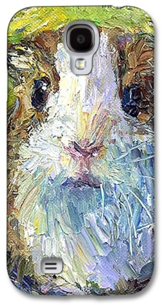 Colorful Galaxy S4 Case - Impasto Impressionistic  Guinea Pig Art by Svetlana Novikova