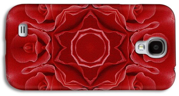 Imperial Red Rose Mandala Galaxy S4 Case by Georgiana Romanovna