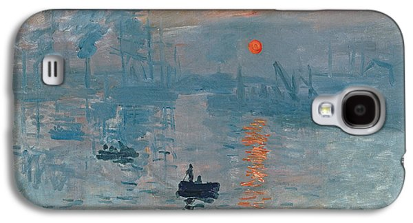 Boat Galaxy S4 Case - Impression Sunrise by Claude Monet