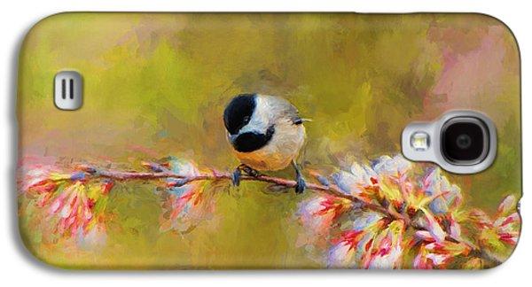 Impressionist Chickadee Galaxy S4 Case by Jai Johnson