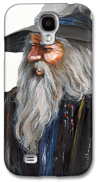Wizard Galaxy S4 Case - Impressionist Wizard by J W Baker