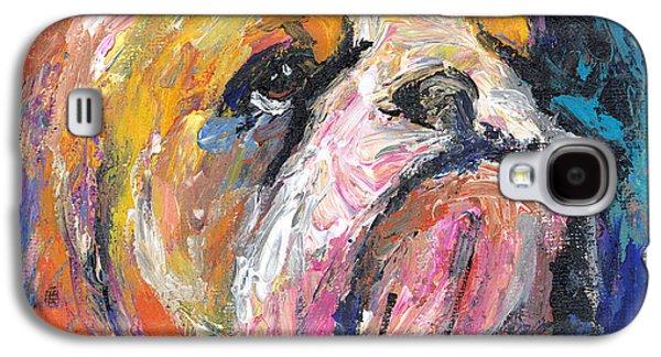 Impressionistic Bulldog Painting Galaxy S4 Case by Svetlana Novikova