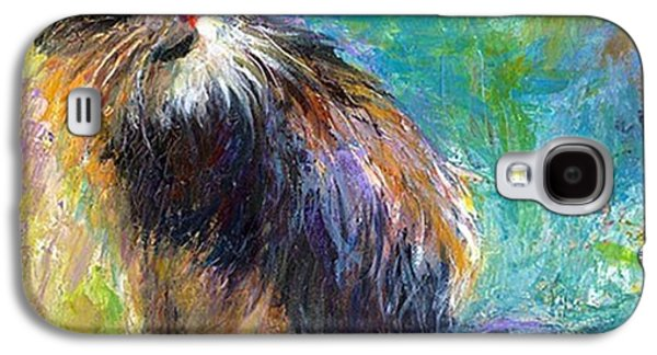 Impressionistic Tuxedo Cat Painting By Galaxy S4 Case