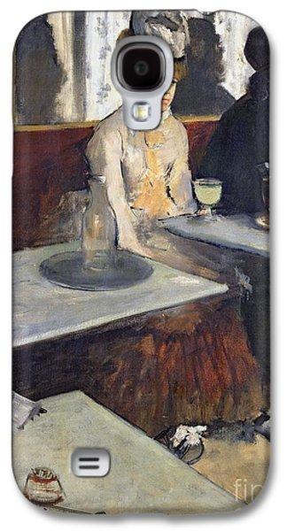 In A Cafe Galaxy S4 Case by Edgar Degas