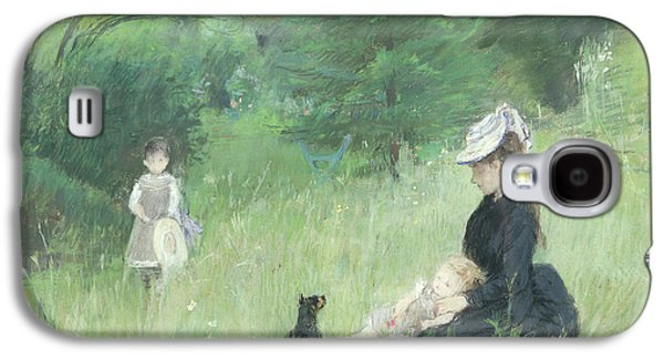 In A Park Galaxy S4 Case by Berthe Morisot