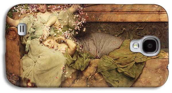 In A Rose Garden Galaxy S4 Case by Sir Lawrence Alma-Tadema