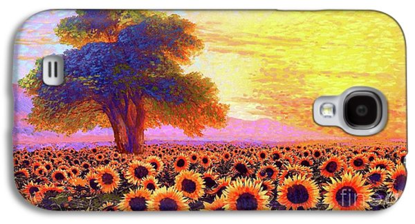 Sunflower Galaxy S4 Case - In Awe Of Sunflowers, Sunset Fields by Jane Small
