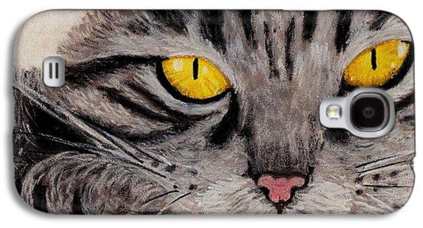 In Cat's Eyes Galaxy S4 Case by Anastasiya Malakhova