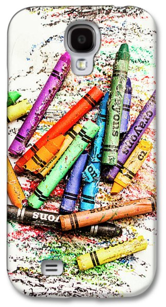 In Colours Of Broken Crayons Galaxy S4 Case
