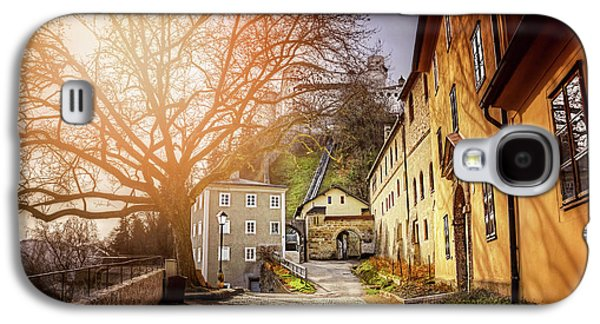 In The Shadow Of Salzburg Castle  Galaxy S4 Case by Carol Japp