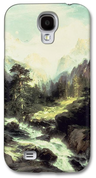 In The Teton Range Galaxy S4 Case by Thomas Moran