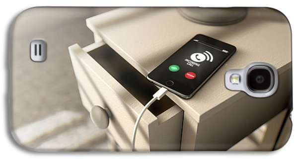 Incoming Call Cellphone Next To Bed Galaxy S4 Case by Allan Swart