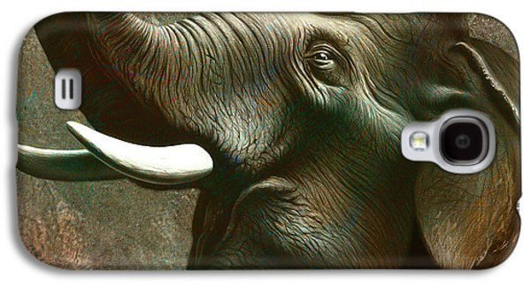 Indian Elephant 2 Galaxy S4 Case by Jerry LoFaro