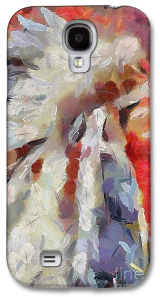 Indian Feathered Painting Galaxy S4 Case by Catherine Lott