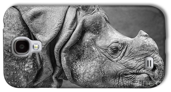 Indian Rhino Profile Galaxy S4 Case by Jamie Pham