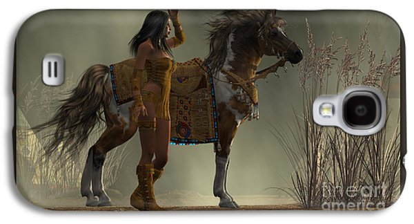 Indian White Feather Galaxy S4 Case