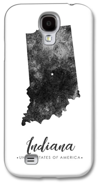 Indiana State Map Art - Grunge Silhouette Galaxy S4 Case
