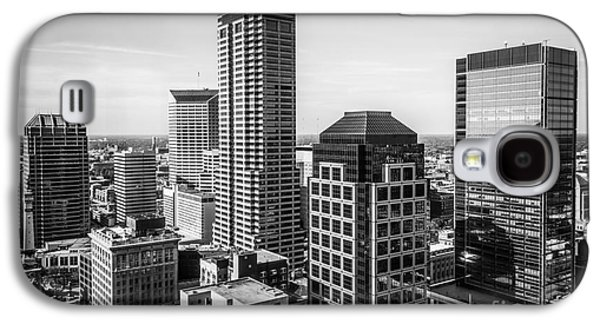 Indianapolis Aerial Black And White Photo Galaxy S4 Case by Paul Velgos