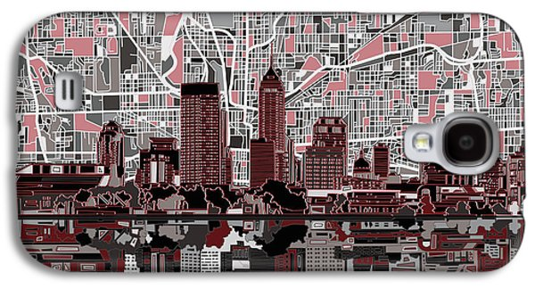 Indianapolis Skyline Abstract 1 Galaxy S4 Case