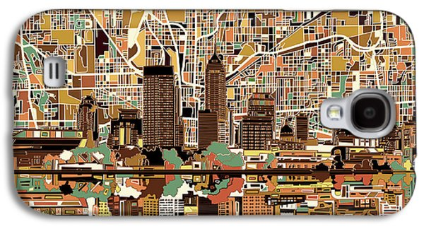 Indianapolis Skyline Abstract 2 Galaxy S4 Case
