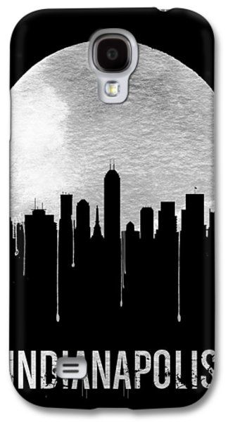 Indianapolis Skyline Black Galaxy S4 Case by Naxart Studio