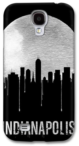 Indianapolis Skyline Black Galaxy S4 Case by Naxart Studio