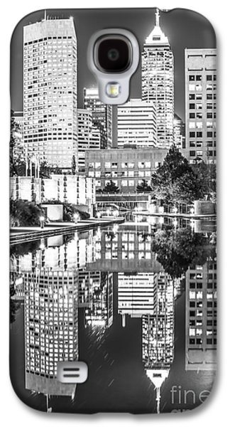 Indianapolis Skyline Central Canal Black And White Photo Galaxy S4 Case by Paul Velgos