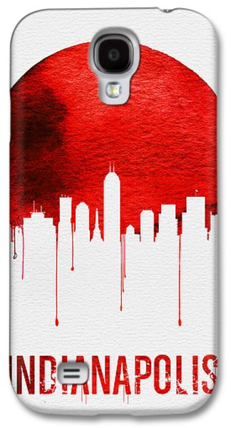 Indianapolis Skyline Red Galaxy S4 Case by Naxart Studio