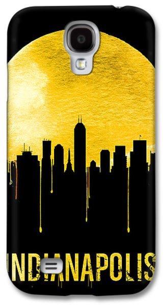 Indianapolis Skyline Yellow Galaxy S4 Case by Naxart Studio
