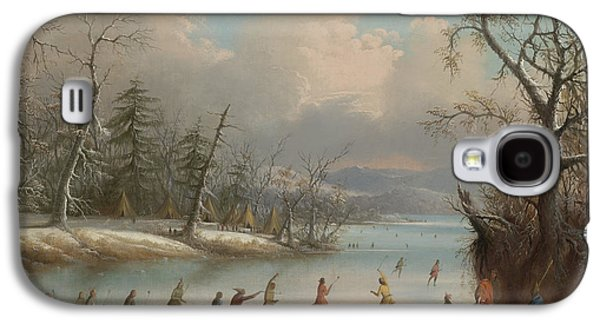 Indians Playing Lacrosse On The Ice, 1859 Galaxy S4 Case